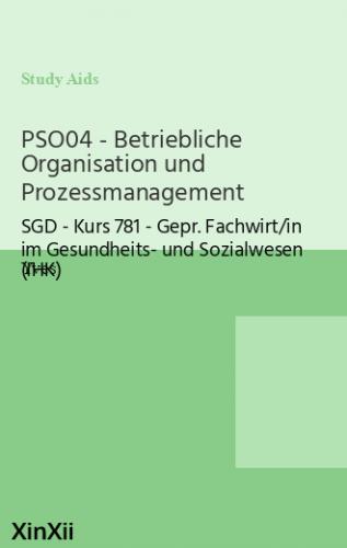 PSO04 - Betriebliche Organisation und Prozessmanagement
