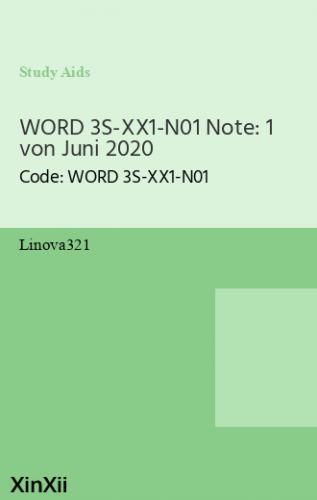 WORD 3S-XX1-N01 Note: 1 von Juni 2020