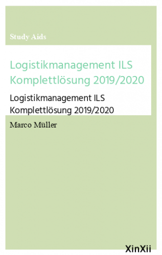 Logistikmanagement ILS Komplettlösung 2019/2020