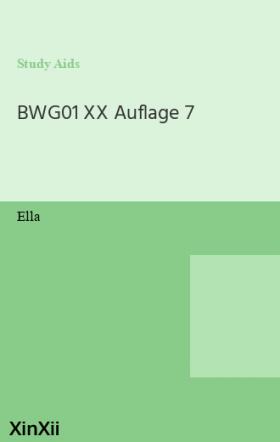 BWG01 XX Auflage 7