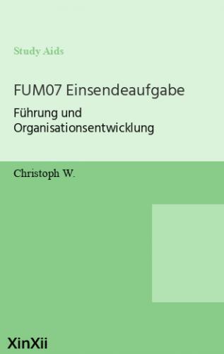 FUM07 Einsendeaufgabe