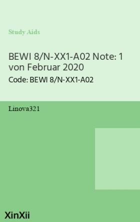 BEWI 8/N-XX1-A02 Note: 1 von Februar 2020