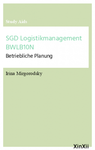 SGD Logistikmanagement BWLB10N