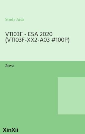 VTI03F - ESA 2020 (VTI03F-XX2-A03 #100P)