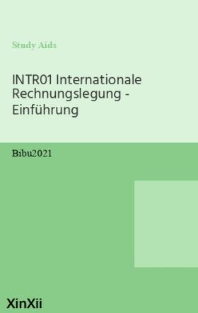 INTR01 Internationale Rechnungslegung - Einführung