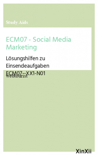 ECM07 - Social Media Marketing
