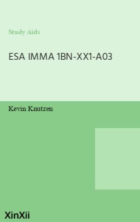 ESA IMMA 1BN-XX1-A03