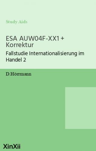 ESA AUW04F-XX1 + Korrektur
