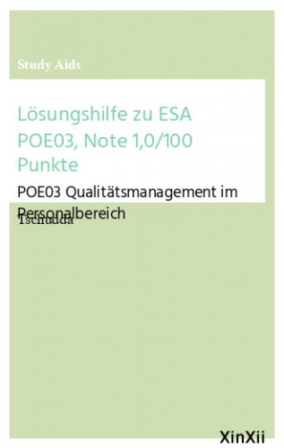 Lösungshilfe zu ESA POE03, Note 1,0/100 Punkte