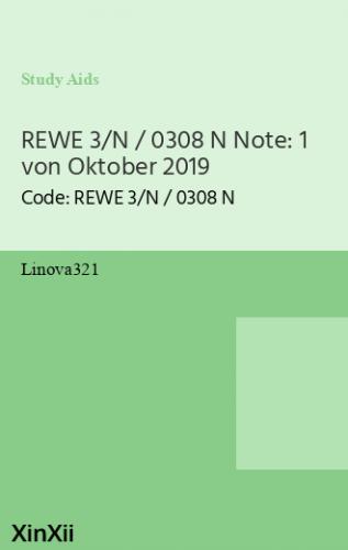 REWE 3/N / 0308 N Note: 1 von Oktober 2019