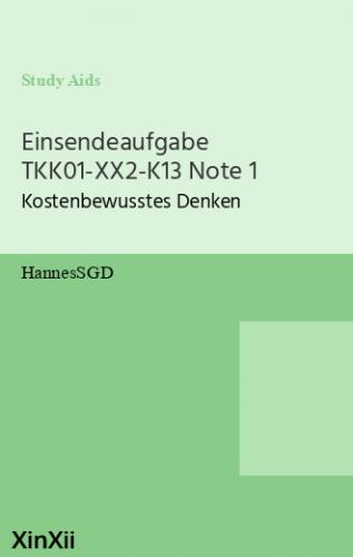 Einsendeaufgabe TKK01-XX2-K13 Note 1
