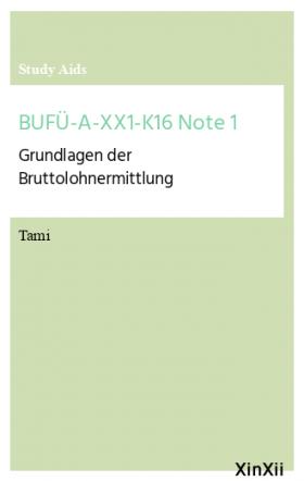 BUFÜ-A-XX1-K16 Note 1
