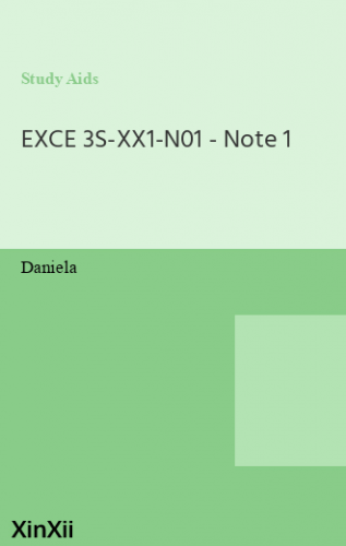EXCE 3S-XX1-N01 - Note 1
