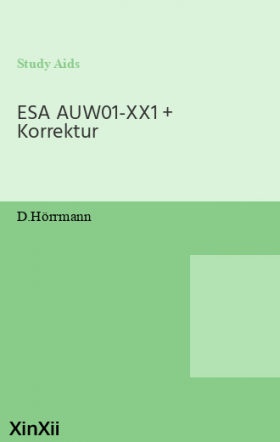 ESA AUW01-XX1 + Korrektur