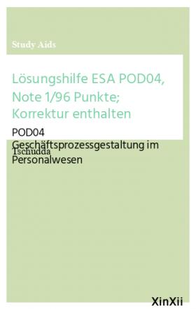 Lösungshilfe ESA POD04, Note 1/96 Punkte; Korrektur enthalten