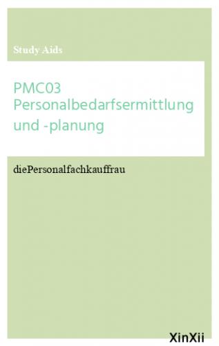 PMC03 Personalbedarfsermittlung und -planung