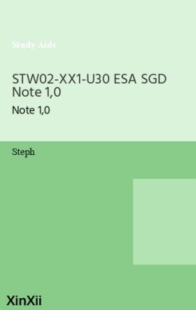 STW02-XX1-U30 ESA SGD Note 1,0