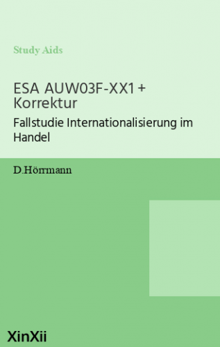 ESA AUW03F-XX1 + Korrektur