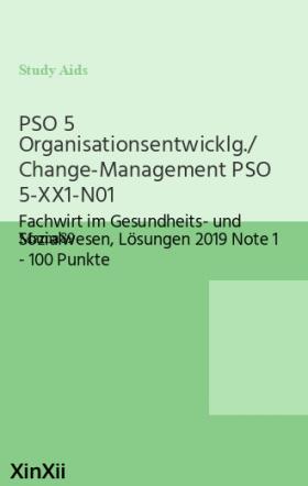 PSO 5 Organisationsentwicklg./ Change-Management PSO 5-XX1-N01