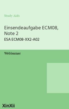 Einsendeaufgabe ECM08, Note 2