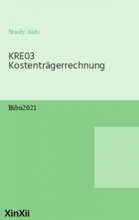 KRE03 Kostenträgerrechnung