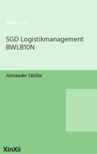 SGD Logistikmanagement BWLB10N