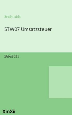 STW07 Umsatzsteuer